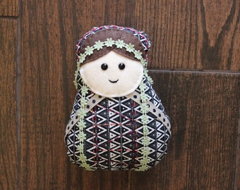 Boho Matryoshka Nesting Doll Plush