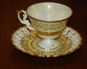 Vintage Footed  Tea Cup  and Saucer # 2684