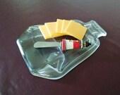 Flattened Liquor  Bottle - Serving Board - Cheese Board - Spoon Rest - Slumped Bottle - Hostess Gift - Housewarming Gift