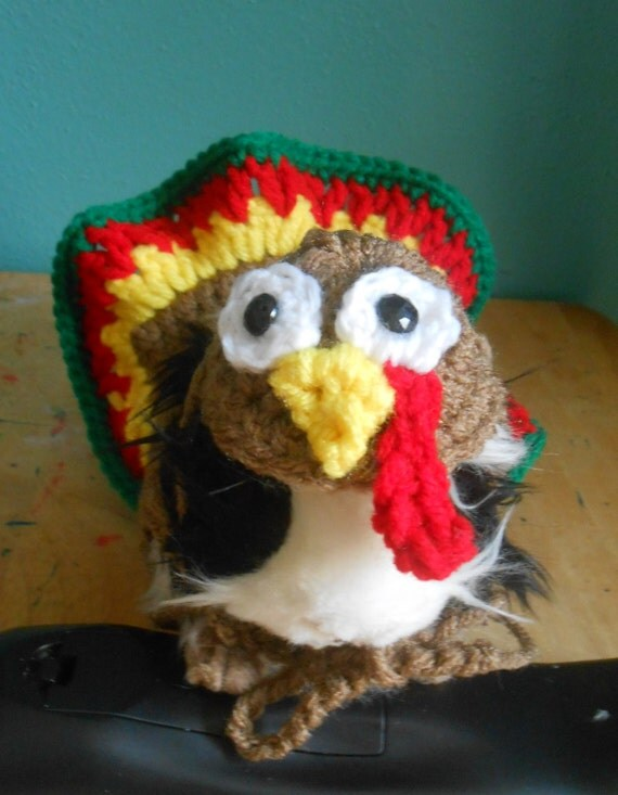 Thanksgiving Guinea pig Sweater Crocheted Turkey Costume for