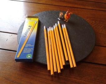 9 NEW unused Dixon Ticonderoga ORIOLE 267 wood case pencils #2 wooden hexagon barrel pencil Father's day Graduation artist writer gift box