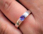 TANZANITE RING Gold Tanzanite Engagement Ring Violet Blue Tanzanite Ring Blue Engagement Ring Gift For Her Tanzanite Gold Ring