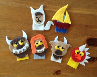 Where the Wild Things Are Finger Puppet Set