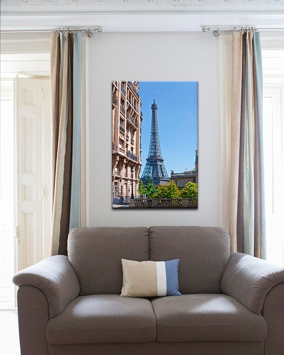 Paris bedroom decor paris eiffel tower canvas wall art paris - Eiffel tower decor for bedroom ...