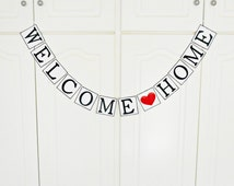 einzigartige artikel zum thema welcome home banner etsy. Black Bedroom Furniture Sets. Home Design Ideas