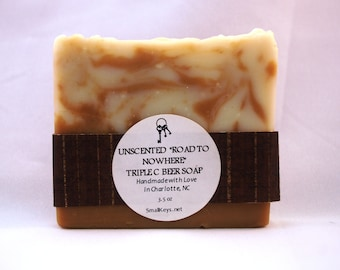 Road to Nowhere Unscented Cold Process Handmade Triple C Brewing Co Beer Soap