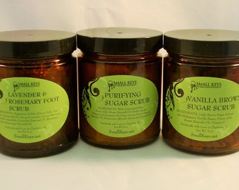Body and Foot Scrubs - All Natural with No Preservatives or Artificial Additives