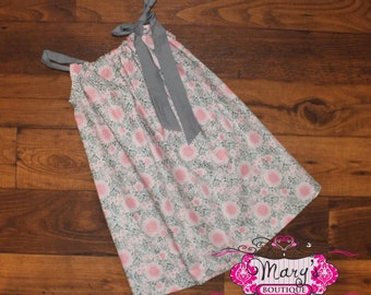 4t Gray and Pink Pillowcase dress