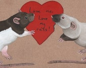 Love me, love my rats!  Wooden Plaque Sign for Rat Lovers