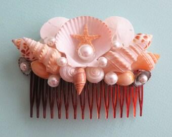Mermaid's Bridal Comb-Beach Bridal Comb- Beach Wedding Hair Accessory-Mermaid Sea Shell Comb-Wedding Hair