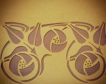 Glasgow Rose stencil