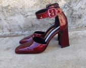Patent Red Chunky Heels