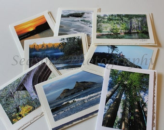Set of 8 Greeting Cards featuring beautiful images of Del Norte County, California