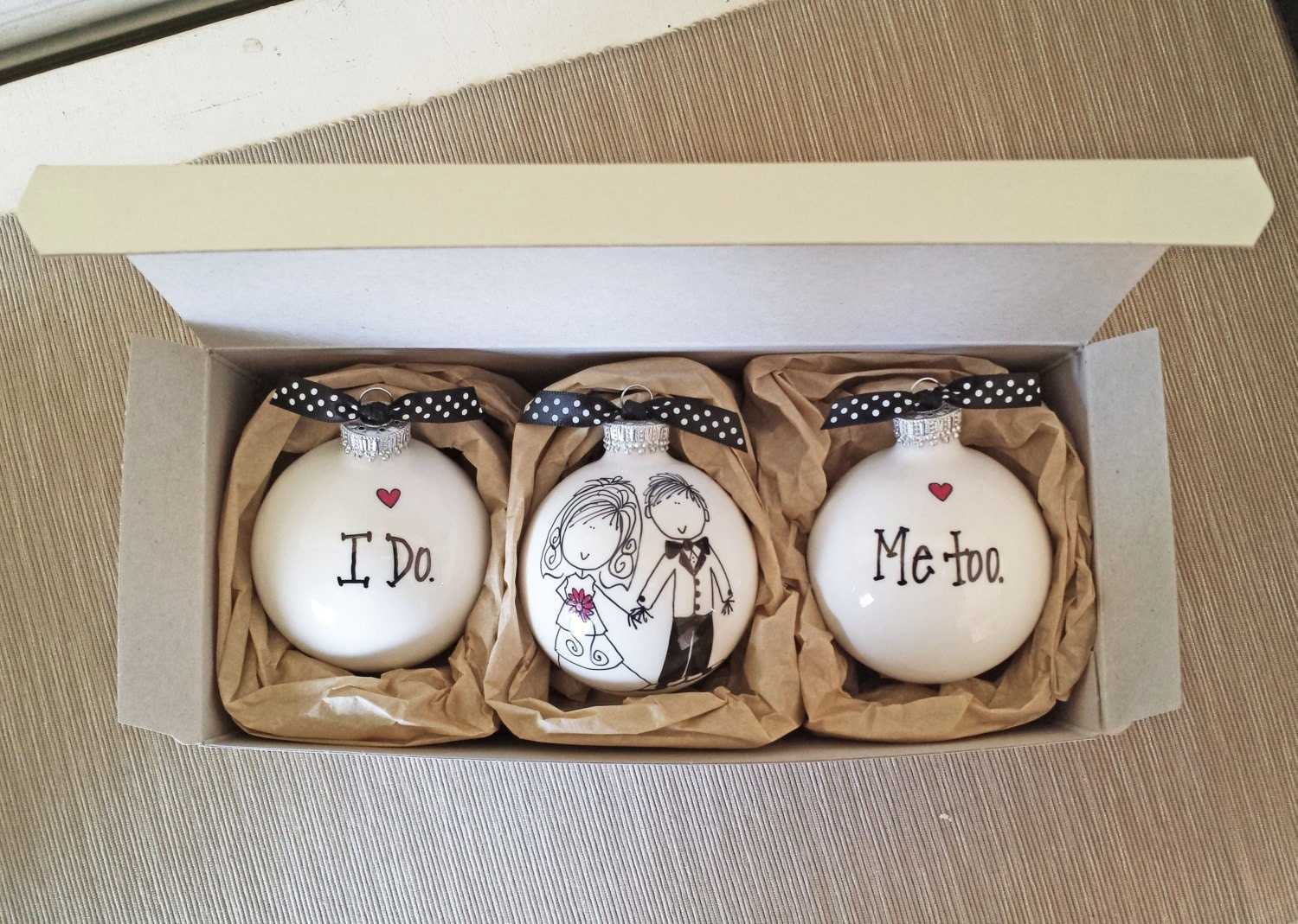 Wedding ornaments keepsake wedding gift personalized wedding for Wedding ornaments
