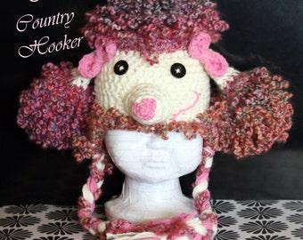 Custom Paris Poodle Earflap Hat