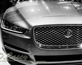 Jaguar XJ,Photography, fine art Photography, Black and white, wall art, home décor, car photography, vintage, truck, auto, gift, print