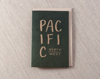 Pacific Northwest Letterpress Greeting Card