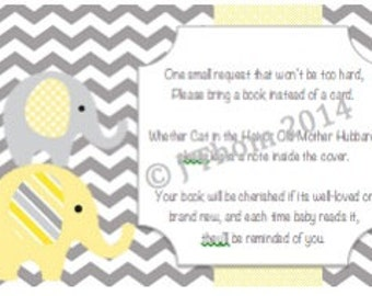 Elephant Baby Shower Book Request