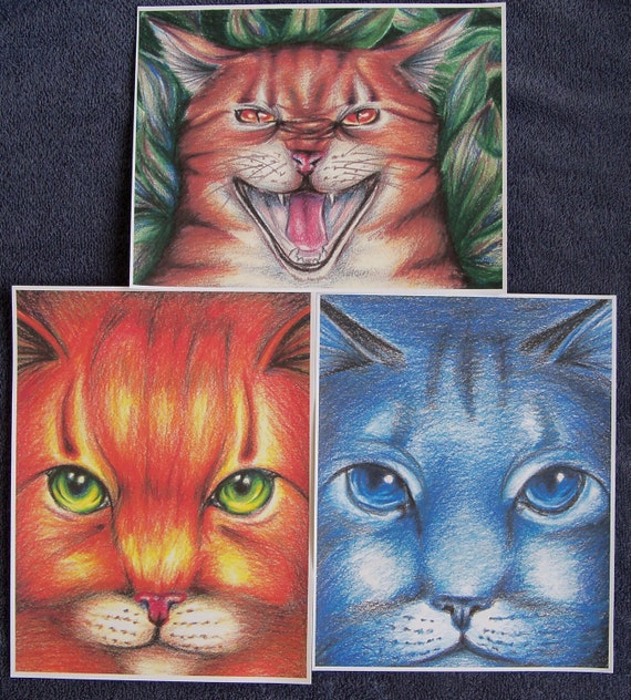Warriors Book Series Review: Warriors Cats Firestar Bluestar Tigerclaw Print Set