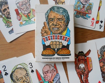 Deck of President Carter Politicards Playing Cards 1980