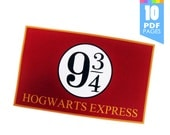 Platform 9 3/4 Template - Harry Potter Party with High Quality Printable PDF Pages - INSTANT DOWNLOAD