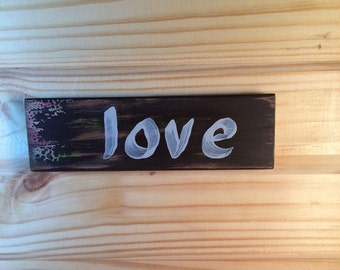 Love sign wall hanging or tabletop decor