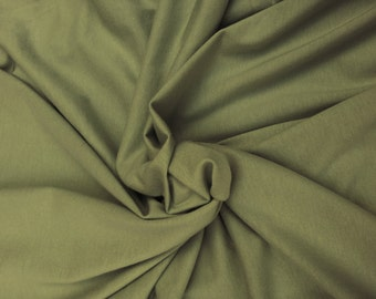 Organic Cotton Fabric Jersey Knit by the Yard -  MOSS GREEN 5/15 Wholesale and Retail