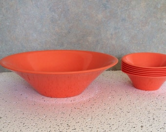 Mid century Melmac/ Texas-Ware Salad Bowls - Melamine  Bowls 1950''s Style - Wedding Gift - Vintage  Cabin &  Summer Camping
