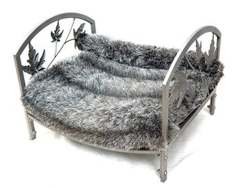 Vintage Inspired Cozy Cat Bed Re purposed from Fire log holder