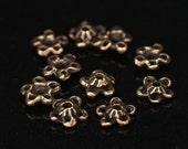 "Bronze bead cap - flower bead cap - handmade findings - handmade flowers bead cap 10 pieces per set 2801(10) ""Moss and Herbs"" collection."