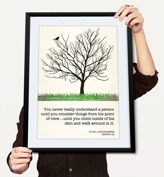 Harper Lee Quotes: To Kill A Mockingbird Harper Lee Quote By ThePrintDesignStudio