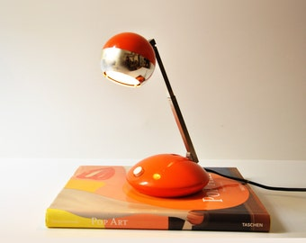 Vintage Adjustable Orange German Desk Lamp