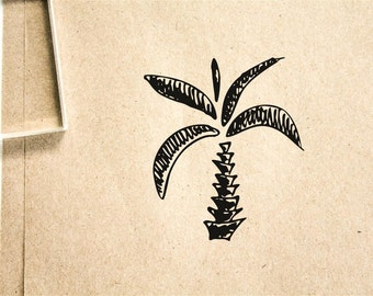 Palm Tree #4 Rubber Stamp