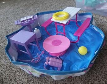 Vintage Barbie 1988 Swimming Pool plus lot