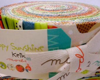 Happy Sunshine Jelly Roll by Keiki for Moda
