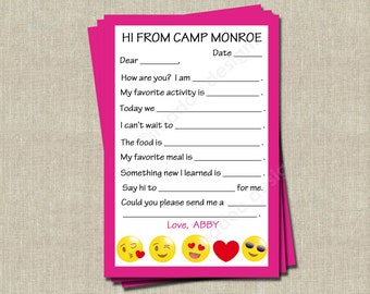 Custom Camp Notes - Fill in the Blank