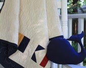 "Nautical Flag Personalized Quilt, ""Old Glory"" Colorway, Custom Made for You // Wedding Gift // Baby Gift"