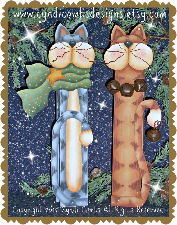 """CC131 - Cat 12"""" Memo Clips - Painting E Pattern by Cyndi Combs"""