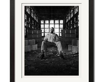 Breaking Bad All Hail the King Walter White BW Urban Poster Print