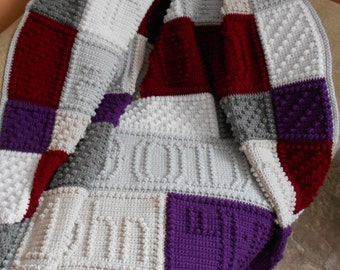 ABIDE finished crocheted blanket
