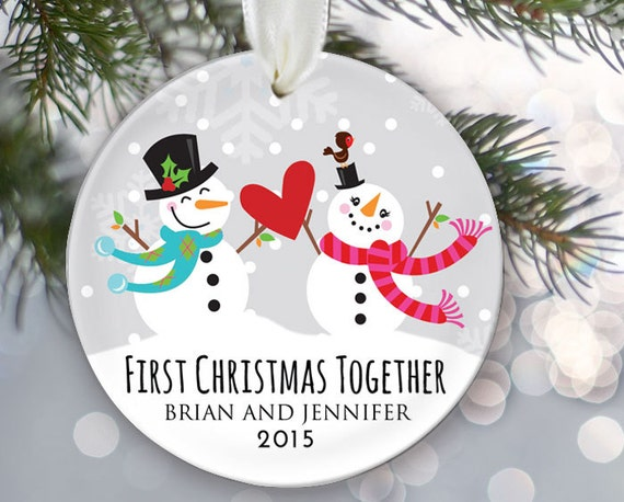 First Christmas Together Personalized Christmas Ornament Just