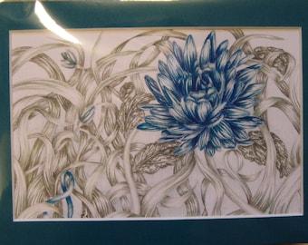 "5x7"" Teal Flower (Ovarian Cancer)"