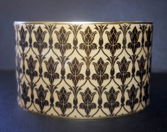 Sherlock Holmes Wallpaper Inspired 1 1/2 Inch Brass Cuff Bracelet