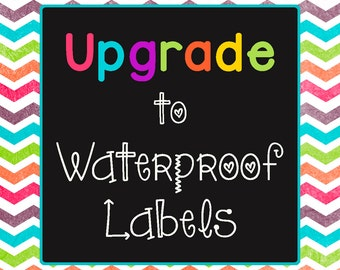 Upgrade to waterproof single use labels