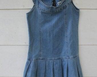 90s denim mini valley girl dress