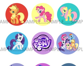 INSTANT Download!!! My Little Pony Bottle Caps, bottlecaps Images- DIGITAL or PRINT-Tags-Cupcake Toppers-Scrapbooking and More.