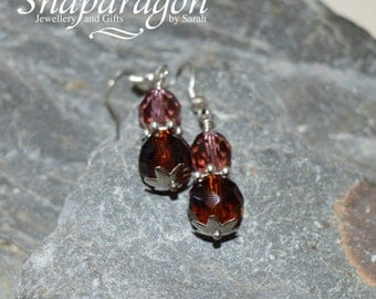 Simple glass drop earrings