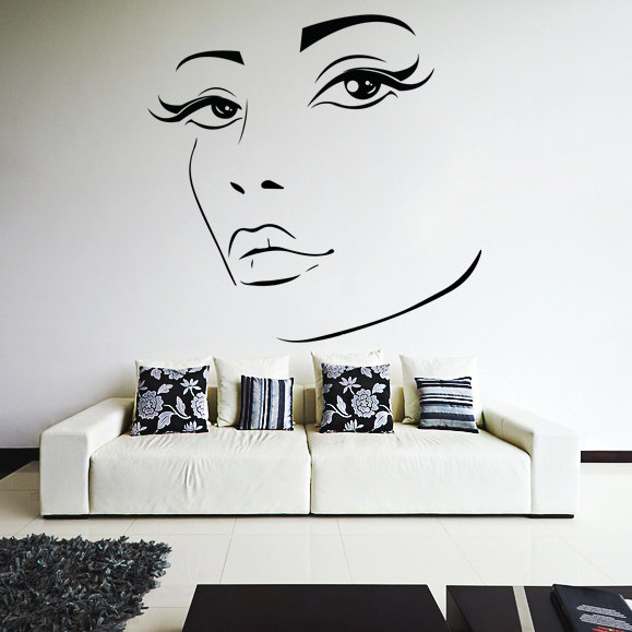 Vinyl Wall Decal Womens Elegant Face Silhouette Sexy Teens - How to make vinyl wall decals with silhouette