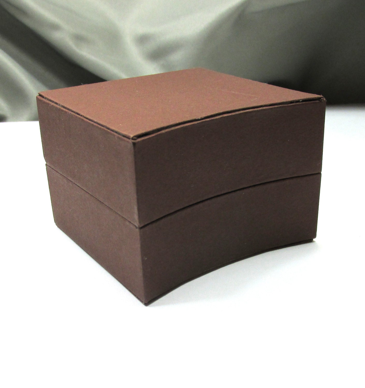 1 Small Jewelry Gift Box Earring Gift Box Brown With
