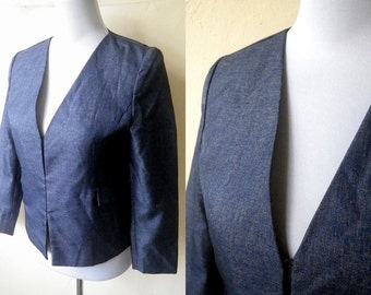 SALE: faux denim blazer jacket (small)